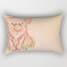 Happy Pig Rectangular Pillow