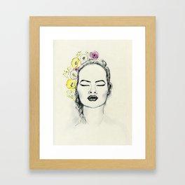 Floral Kiss Framed Art Print