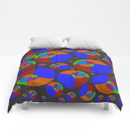 Bubble red & blue 09 Comforters