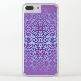 70's style Celtic Knotwork V2 Clear iPhone Case