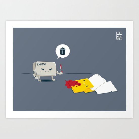 Dead Folder Art Print