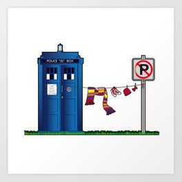 Doctor Who: tardis wardrobe  Art Print