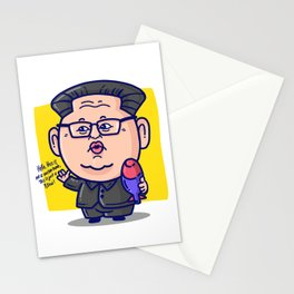 Kim Jong Un Loves His Pillow Stationery Cards