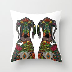 Great Dane love white Throw Pillow