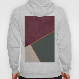 Burgundy Olive Green Gold and Nude Geometric Pattern #society6 #buyart Hoody