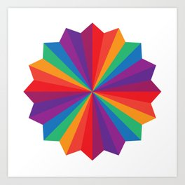 Rainbow Star Art Print