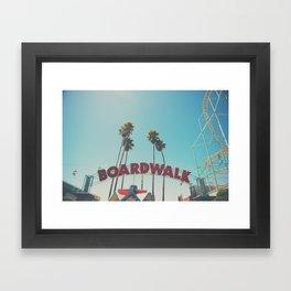 Santa Cruz boardwalk ... Framed Art Print