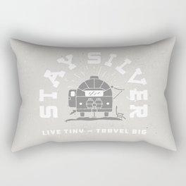 """Stay Silver"" Retro Type (gray) Rectangular Pillow"