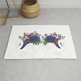 Twin Crown Lynn Swans Rug