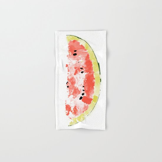 Watermelon Watercolor Hand & Bath Towel