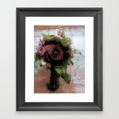 Shabby Rose Framed Art Print