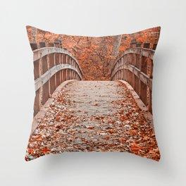 Ruby Red Bridge Throw Pillow