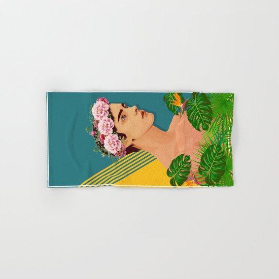BOY OVER FLOWERS Hand & Bath Towel