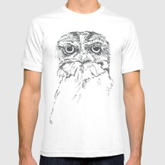 Grumpy Feathers Mens Fitted Tee MEDIUM White