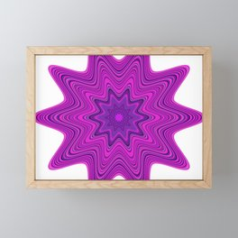 Violet abstract star Framed Mini Art Print