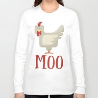 chicken Long Sleeve T-shirts featuring Chicken  by JunkyDotCom