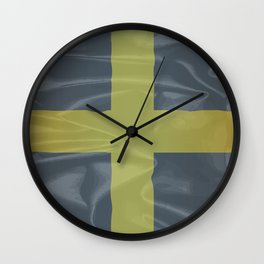 Silk Flag of Saint David Of Wales Wall Clock