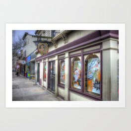Downtown Newport, RI Art Print