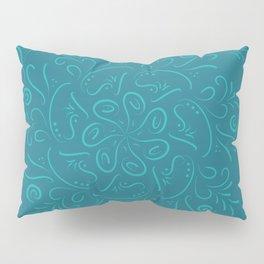 Teal mandala Pillow Sham