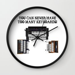 You Can Never Have Too Many Keyboards! Wall Clock