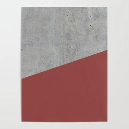 Concrete with Chili Oil Color Poster