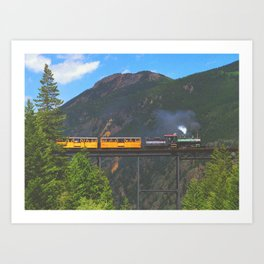Georgetown Loop Railroad above Georgetown, Colorado Art Print
