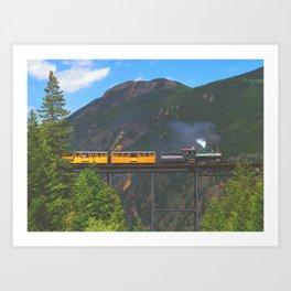 Georgetown Loop Railroad above Georgetown, Colorado Art Print