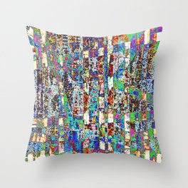 Chaos Within the Fence Throw Pillow