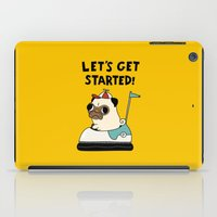 pug iPad Cases featuring PUG! by Jarvis Glasses