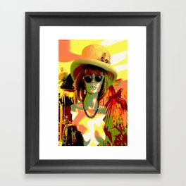 Vintage: Mad Hatter Framed Art Print