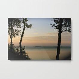 Sunset on the Saint Lawrence River Metal Print