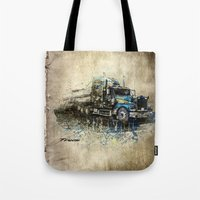 truck Tote Bags featuring Truck by Svetlana Sewell