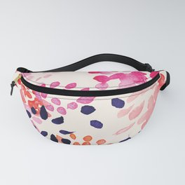 Flower abstract, watercolor floral pattern Fanny Pack