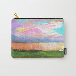 April Showers, Abstract Landscape Carry-All Pouch