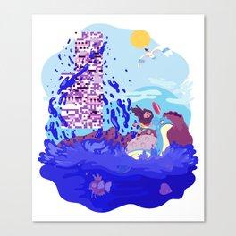 Tiny Worlds - Cinnabar Island Canvas Print