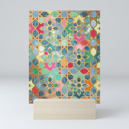 Gilt & Glory - Colorful Moroccan Mosaic Mini Art Print