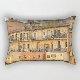 Balconies in Girona, Cataluna, Spain Rectangular Pillow