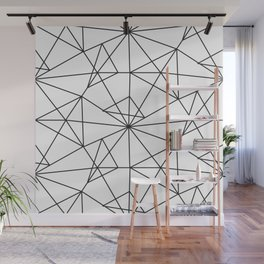 Contemporary black white abstract geometrical Wall Mural