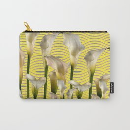 Grey & Yellow Pattern Calla Lilies Art Carry-All Pouch