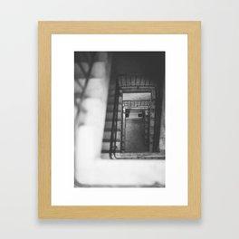 Go Downstairs  Framed Art Print