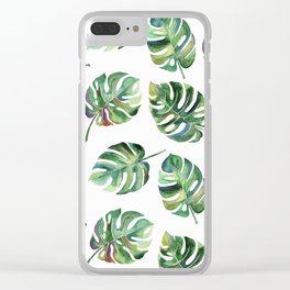 Leaves Everywhere Clear iPhone Case