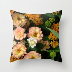 Garden Beauties Throw Pillow