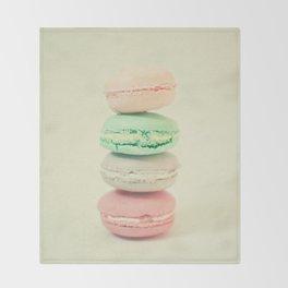 Four Macarons Throw Blanket