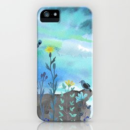 Blue Garden I iPhone Case