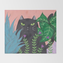 Jungle Cat Throw Blanket