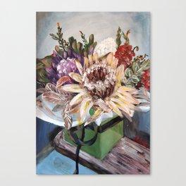 INSIDE THE GIFT BOX - Australian native dried flowers still life by HSIN LIN / H.Lin the Artist Canvas Print