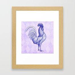 Vintage Rooster Design- Framed Art Print