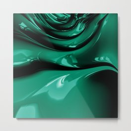 It's easy to be Green Metal Print