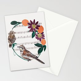 The Lark and the Sparrow and maypop Stationery Cards