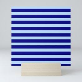 marinière mariniere  Dark blue and light blue Mini Art Print